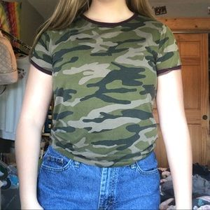 forever 21 camp tee